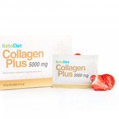 KetoDiet Collagen Plus 5000 mg - příchuť jahoda